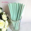 Paper Straws Printed With Aqua Chevron 500pcs