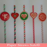 Valentine's Day Paper Straws 1000pcs Mixed 5 Colors