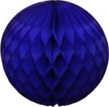 Navy Tissue Paper Honeycomb Balls 20pcs