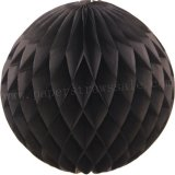 Black Tissue Paper Honeycomb Balls 20pcs
