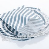 Navy Diagonal Stripe Paper Favor Bags 400pcs