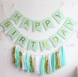 Happy Birthday Mint Green Party Decoration Set