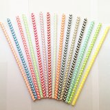 All Chevron Paper Straws 3000pcs Mixed 15 Colors