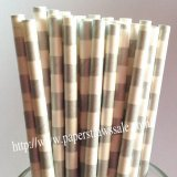 Silver White Sailor Striped Paper Straws 500pcs