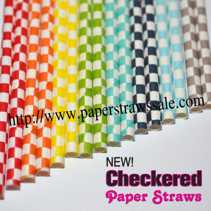 Checker Paper Checkered Paper Straws 1600pcs