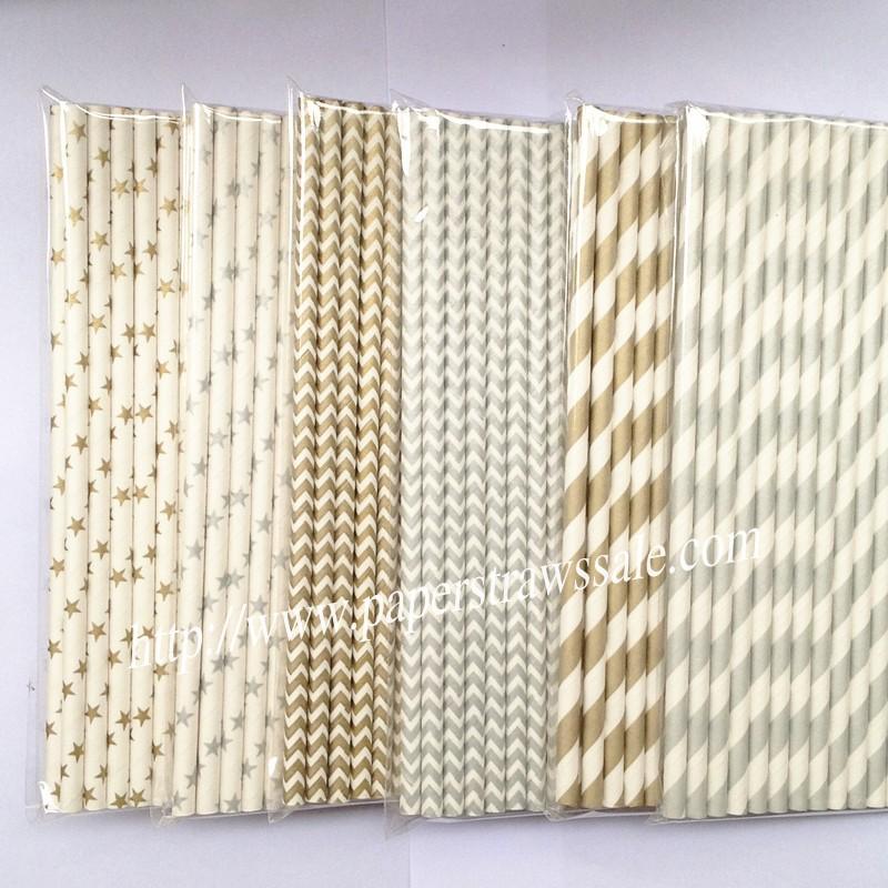 Gold Metallic Paper Straws,paper straws