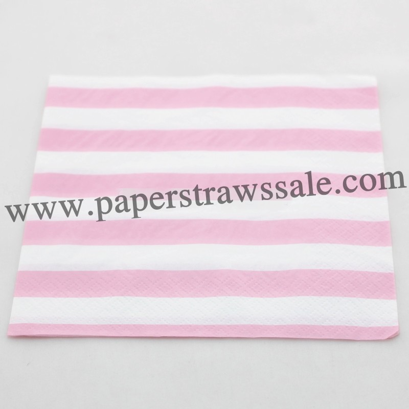 striped paper napkins Stylish range of co-ordinated paper napkins for your party table  gold stripes lunch napkins 16pk great value lunch napkins with rose gold foil stripes $695 .