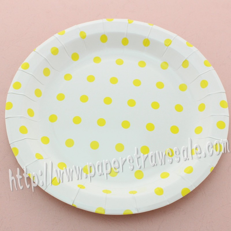 yellow paper plates Paper luncheon, dinner, beverage, guest napkins paper plates, plastic plates, plastic cultery, 12 ounce paper and 9 ounce plastic cups.