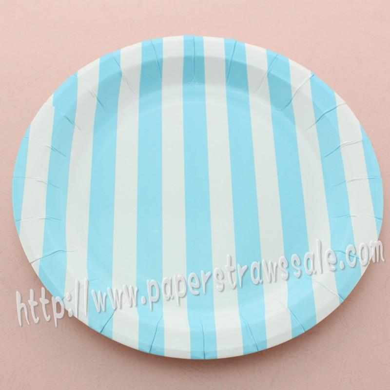 striped paper plates